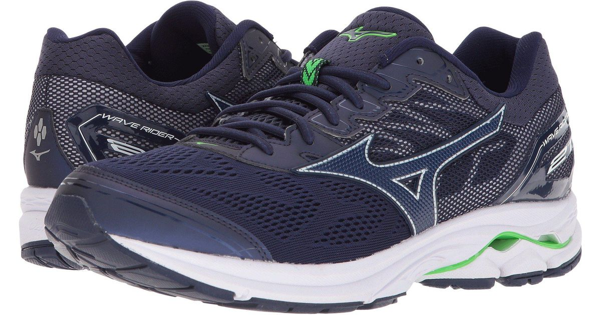 Lyst - Mizuno Wave Rider 21 (eclipse eclipse green Slime) Men s Running  Shoes in Blue for Men 92419017ff