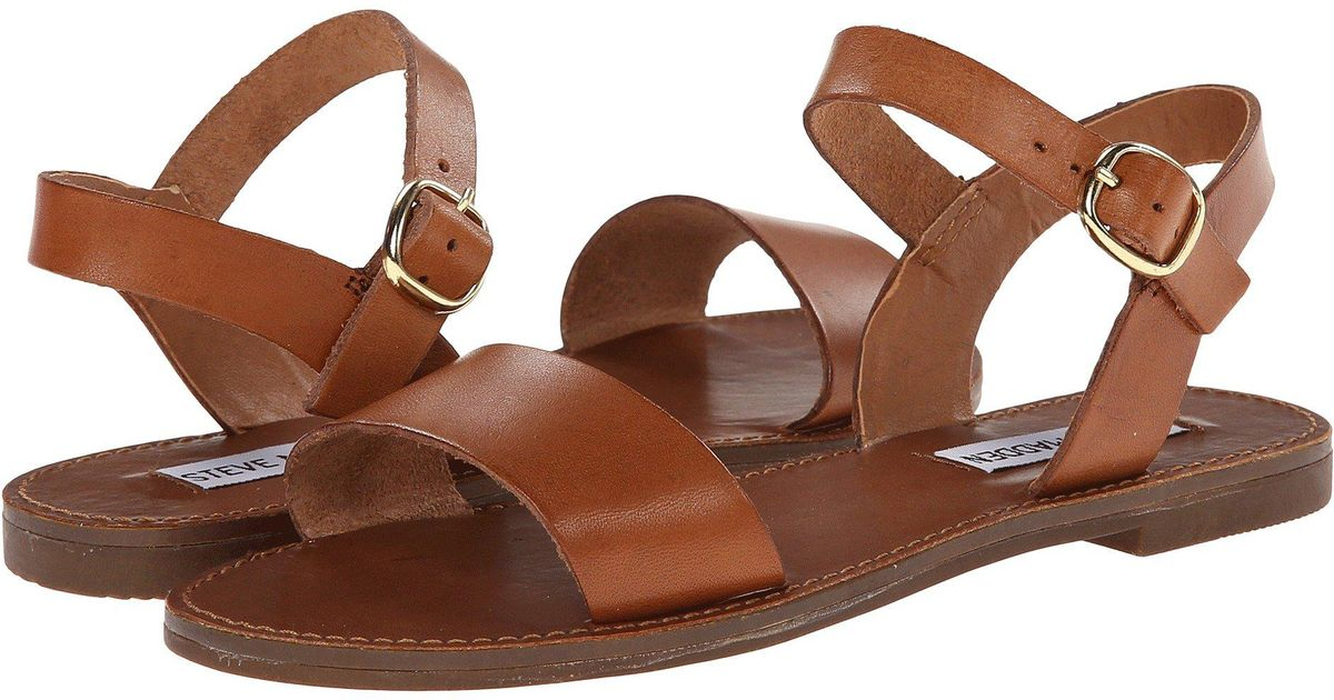 69f223e686e Lyst - Steve Madden Donddi Leather Sandals in Pink - Save 49%