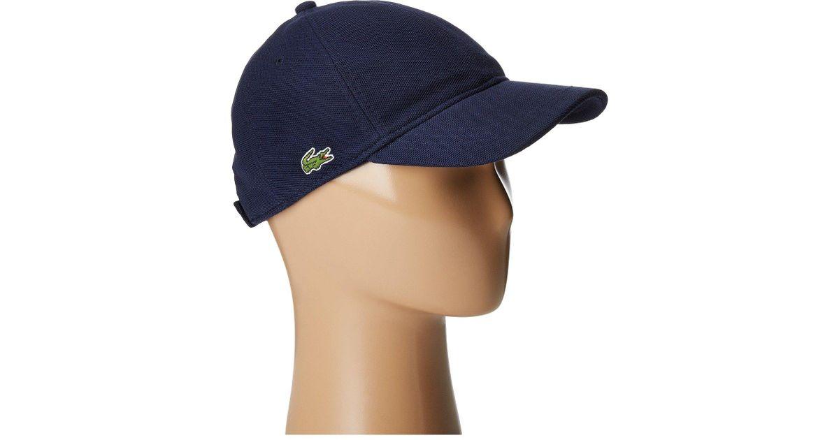 2ba23ed1 Lacoste Cotton Pique Cap (rill Light Blue) Caps in Blue for Men - Lyst