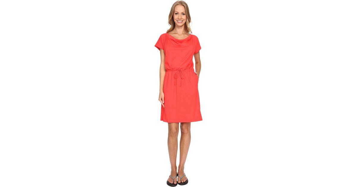 b77bd4a097b Lyst - Mountain Hardwear Dryspun Perfect™ Tee Dress in Red