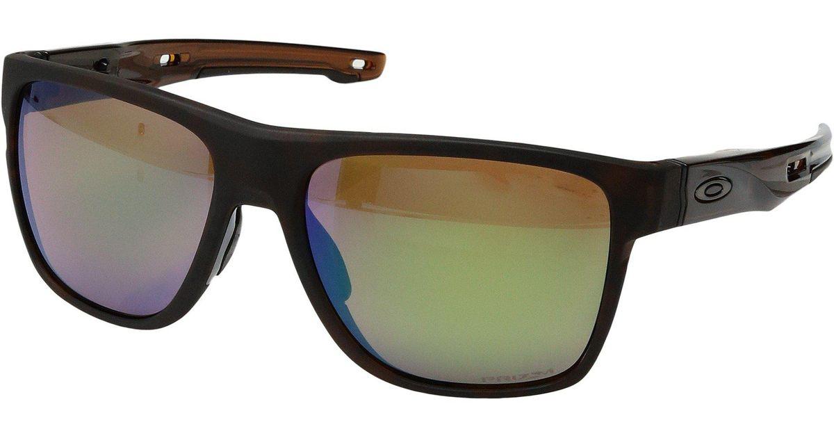 c3c49aebc8518 Oakley Crossrange Xl (polished Black W  Prizm Golf) Fashion Sunglasses -  Lyst