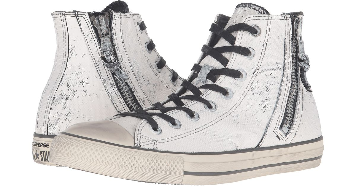 ceb319220511 ... best price lyst converse chuck taylor all star side zip heavyweight  canvas hi in natural for aliexpress amazon converse mens ...
