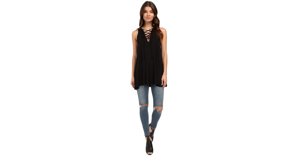 d9878b8e5 Lyst - Culture Phit Elodie Sleeveless Crossed Tunic in Black