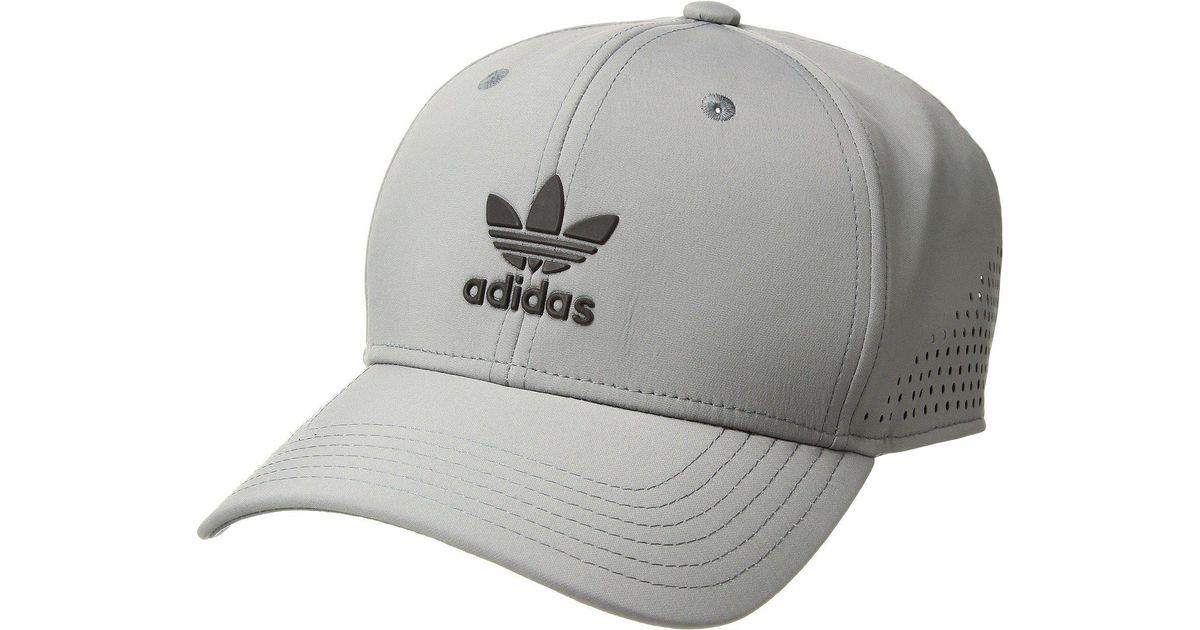 cf64ee9c ... coupon for lyst adidas originals originals tech mesh snapback grey  black caps in gray for men