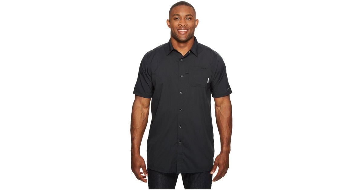 1f78b7720a3 Columbia Big Tall Slack Tide Camp Shirt (black) Men's Short Sleeve Button  Up in Black for Men - Lyst
