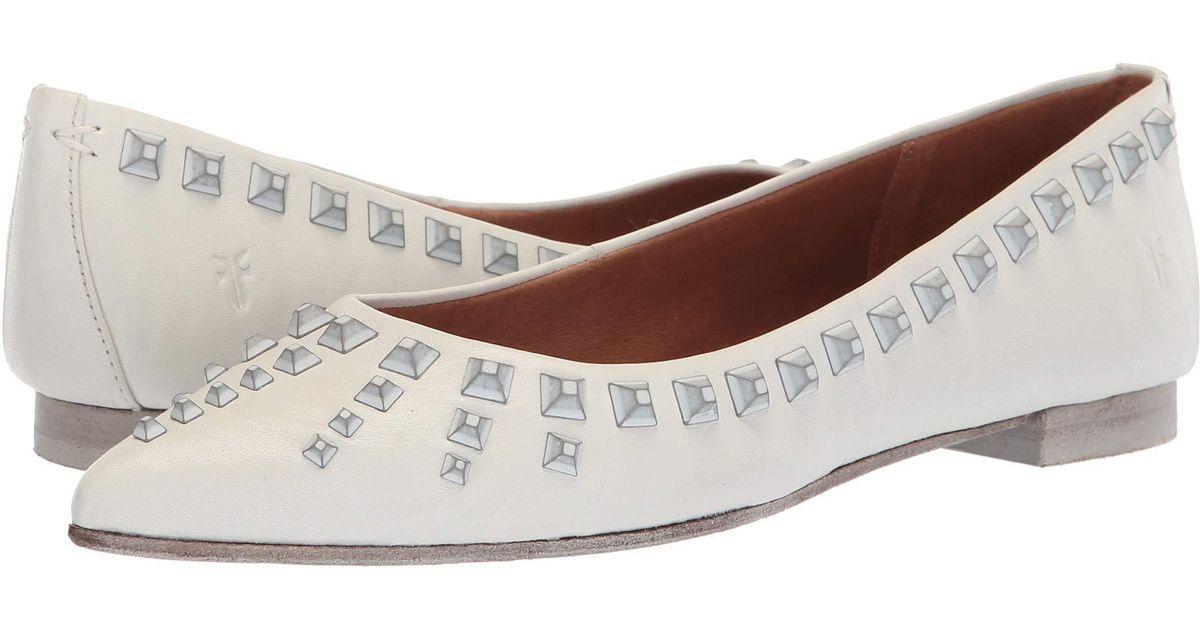 f4daabc5c Lyst - Frye Sienna Deco Stud Ballet (grey Polished Soft Full Grain) Women's  Flat Shoes in Gray