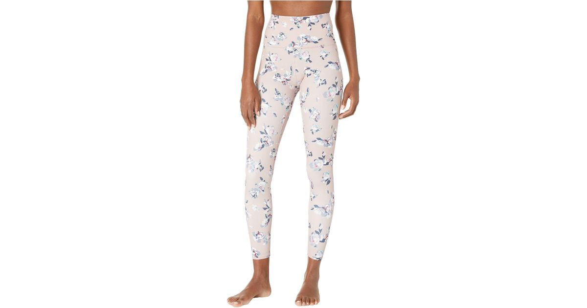 1b75d27b33542 Beyond Yoga Olympus High-waisted Midi Leggings (impressionist Floral Blush)  Women's Casual Pants in Pink - Lyst