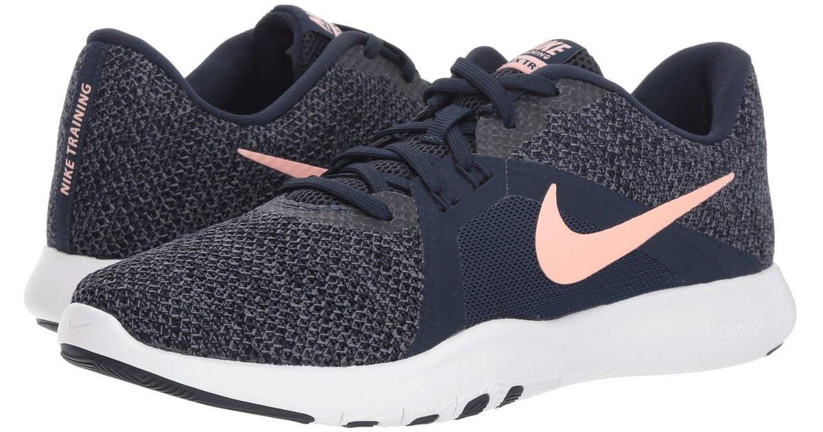 6da1875e14ad9 Lyst - Nike Flex Tr 8 (white metallic Silver pure Platinum) Women s Cross  Training Shoes in Blue
