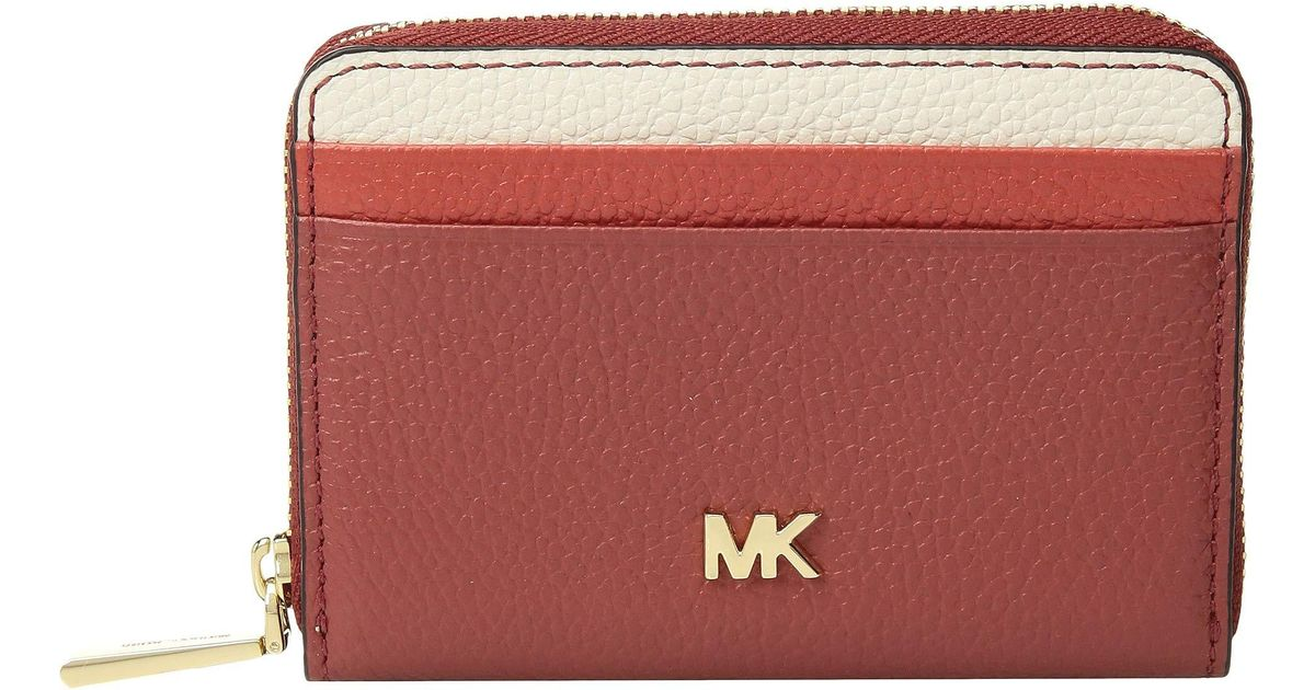294a04350ede MICHAEL Michael Kors Zip Around Coin Card Case (terracotta Multi) Credit Card  Wallet in Red - Save 2% - Lyst