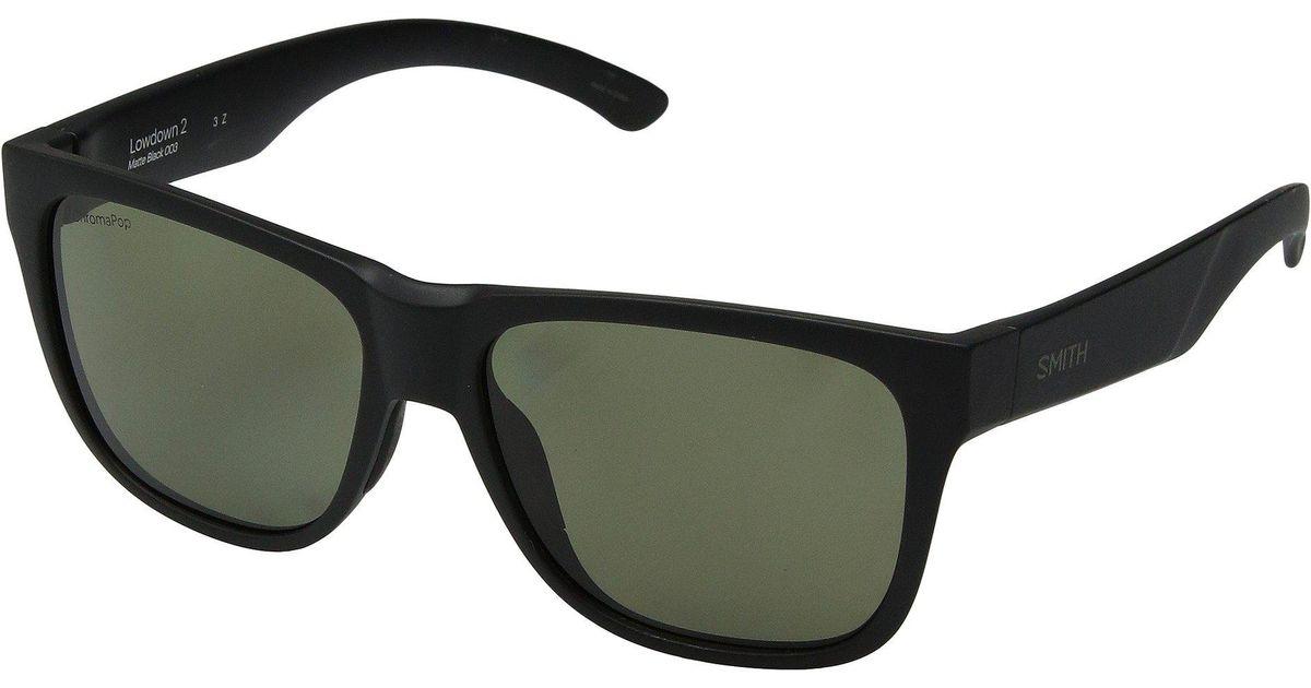 ab71d2470c Lyst - Smith Optics Lowdown 2 (matte Black gray Green Chromapoptm Polarized  Lens) Athletic Performance Sport Sunglasses in Black
