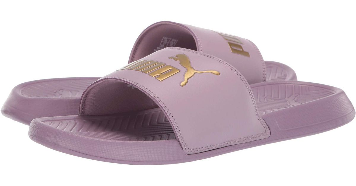 7bc160443 Lyst - PUMA Popcat ( White  Black) Men s Sandals in Purple for Men