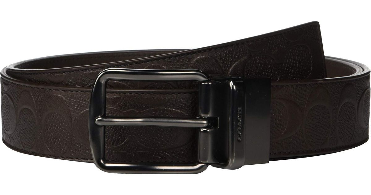 26f7eb0d68aa Lyst - Coach Wide Harness Cut To Size reversible Signature Crossgrain Belt ( brown) Men s Belts in Brown for Men