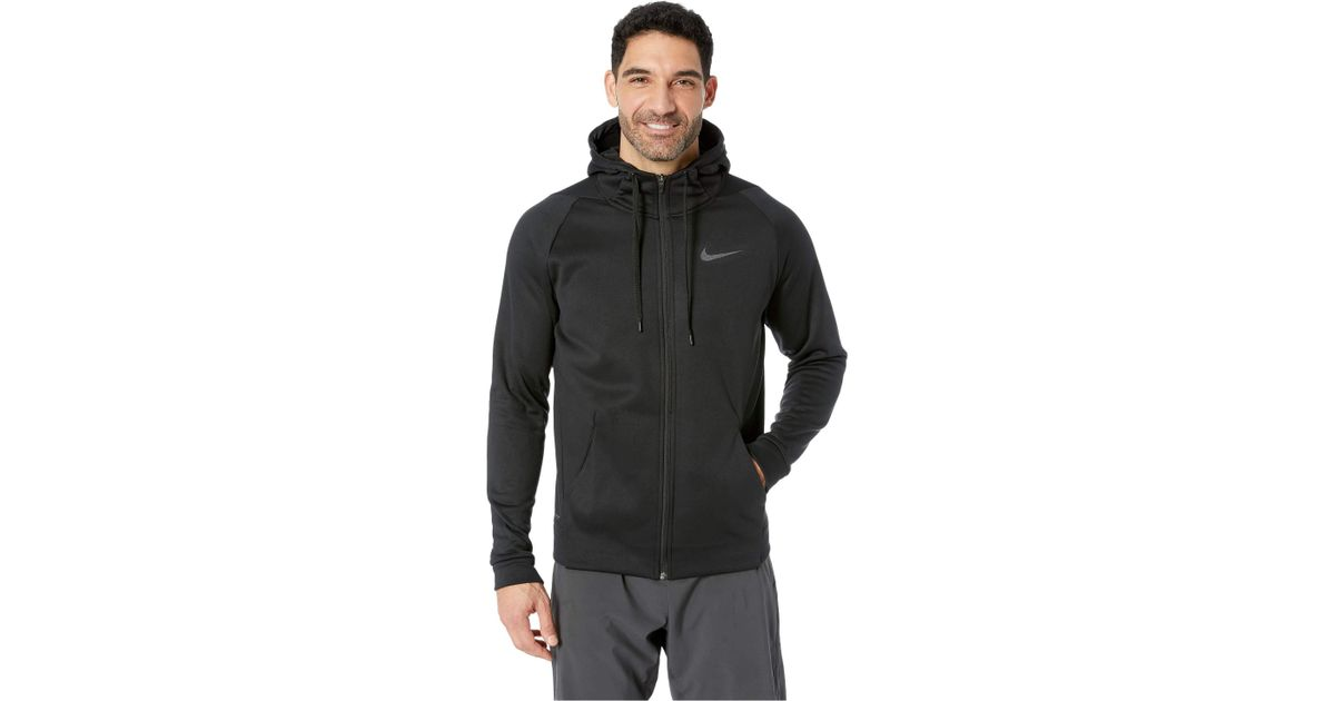 fb7a4bd4 Nike Dri-fit Therma Men's Full-zip Training Hoodie (blue Void/black) Men's  Sweatshirt in Black for Men - Lyst