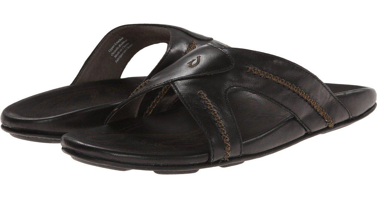 2cce5c6cebe Lyst - Olukai Mea Ola Slide (black black) Men s Sandals in Black for Men