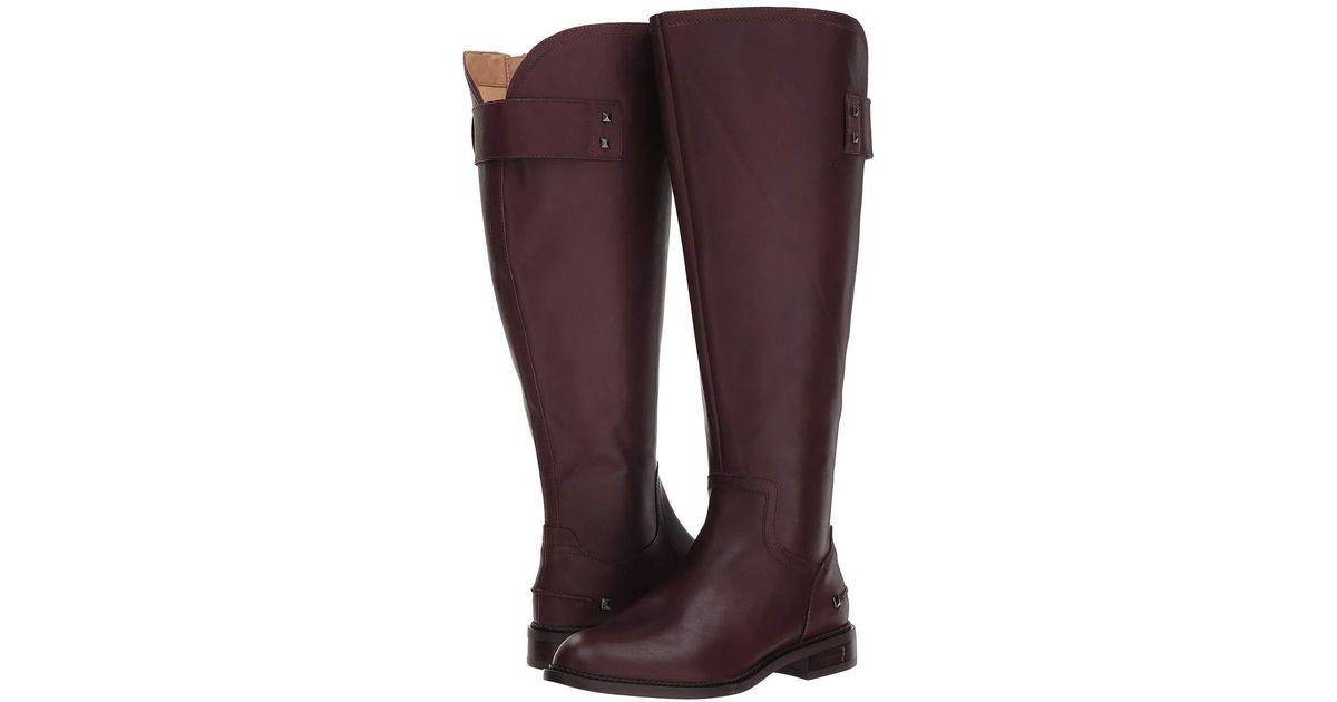 f9961f1a6e3 Franco Sarto - Purple Henrietta Wide Calf (dark Burgundy) Women's Shoes -  Lyst