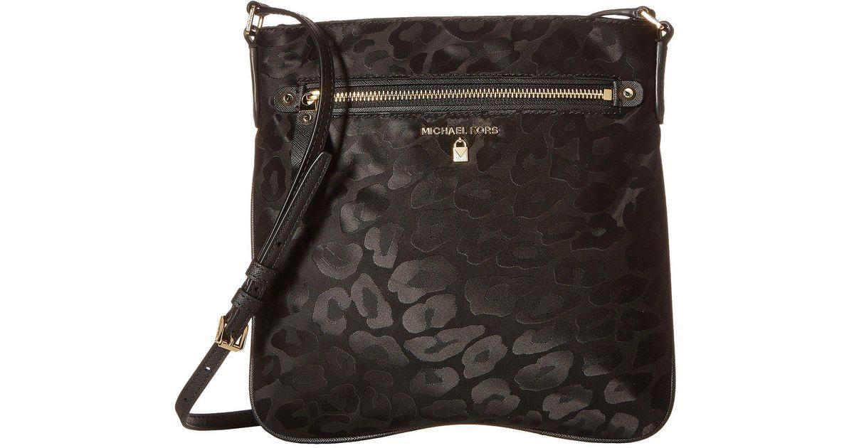 Lyst Michael Kors Nylon Kelsey Large Crossbody Admiral Cross Body Handbags In Black