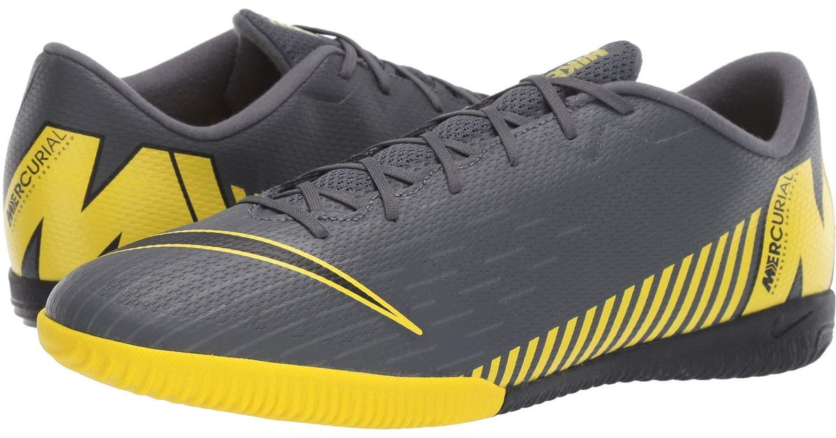3658add218 Lyst - Nike Vaporx 12 Academy Ic (dark Grey black opti Yellow) Men s Soccer  Shoes in Gray for Men