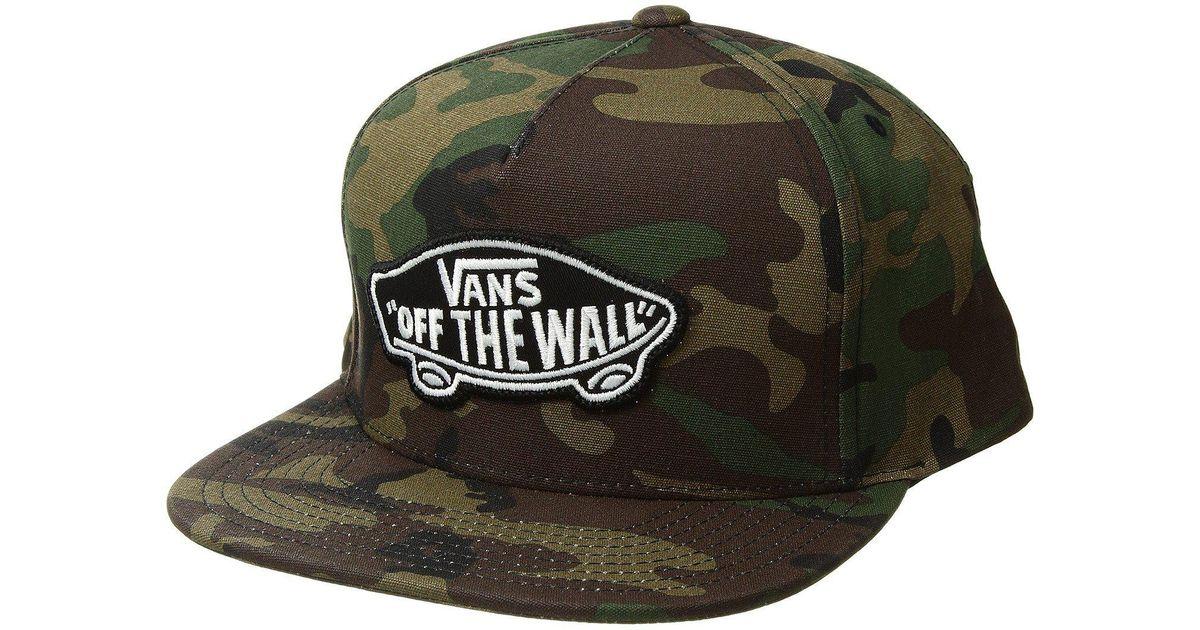 Lyst - Vans Classic Patch Snapback Hat (classic Camo) Caps in Green for Men 6daa0845440e