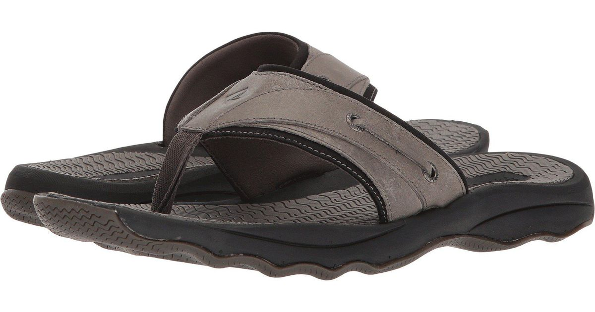 0b0b9db5ad8 Lyst - Sperry Top-Sider Top-sider Outer Banks Thong Sandal in Gray for Men  - Save 33%