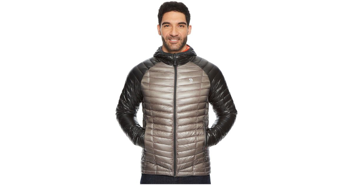 2af4caf75a4 Mountain Hardwear Ghost Whisperer Hooded Down Jacket in Gray for Men - Lyst