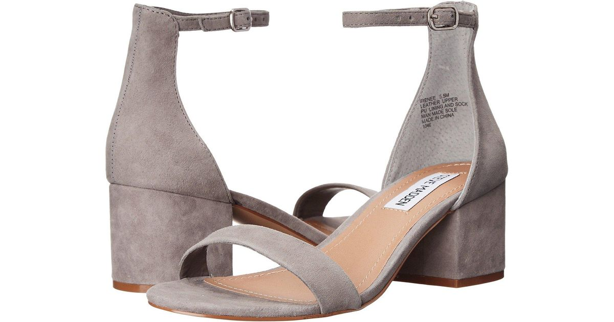 6c5e6a08c08 Lyst - Steve Madden Irenee Heeled Dress Sandal in Gray