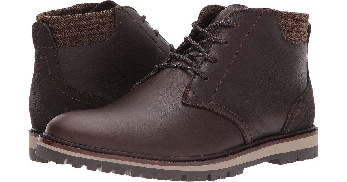 412c00aeb Lyst - Lacoste Montbard Chukka 417 1 Cam (dark Brown) Men s Shoes in Brown  for Men