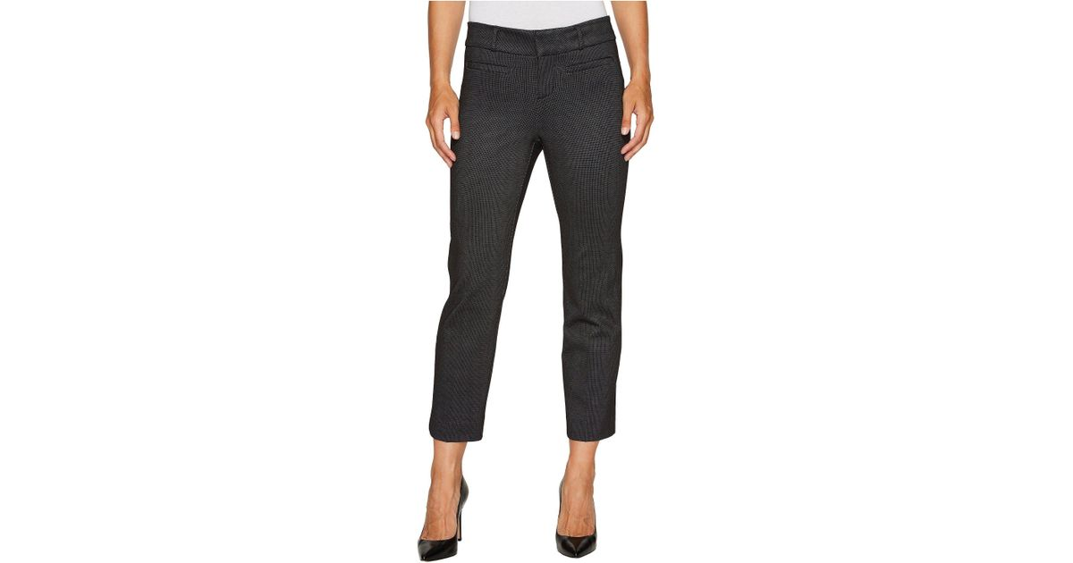 c6d5193d8e167 Lyst - Liverpool Jeans Company Vera Crop Flare Trousers With Welt Pockets  In Mini Check Ponte Knit in Black