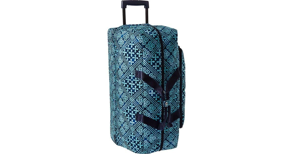 Lyst - Vera Bradley Luggage Lighten Up Large Wheeled Duffel in Blue bcda38480b