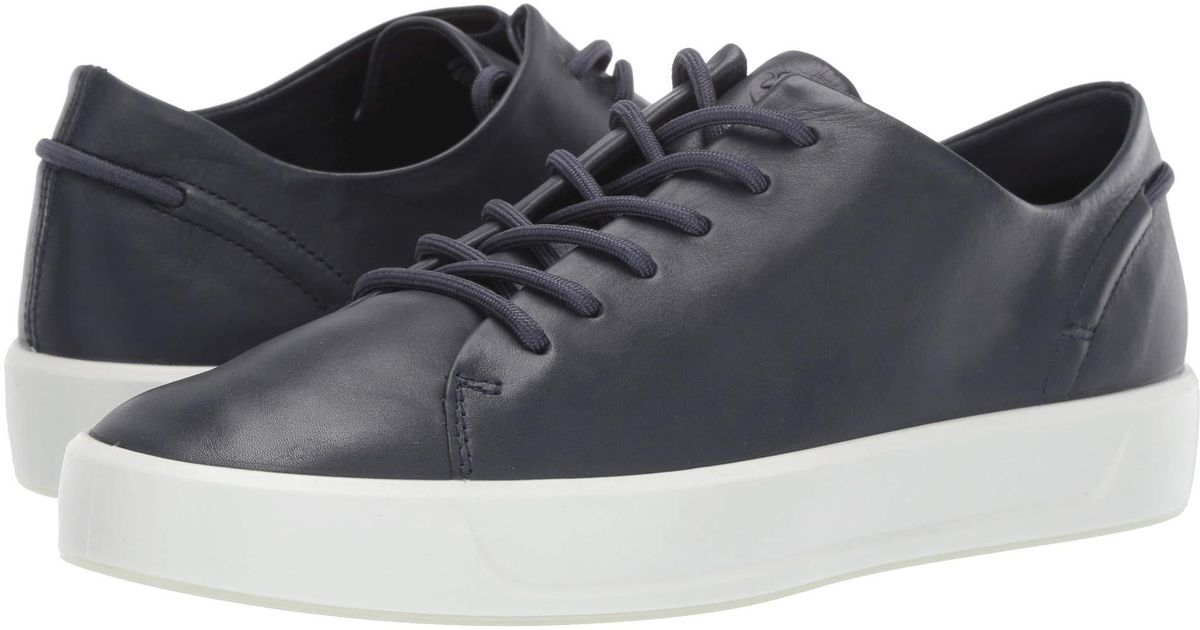 dc6dbd37 Ecco - Black Soft 8 Leisure Tie (marine Cow Leather) Women's Lace Up Casual  Shoes - Lyst