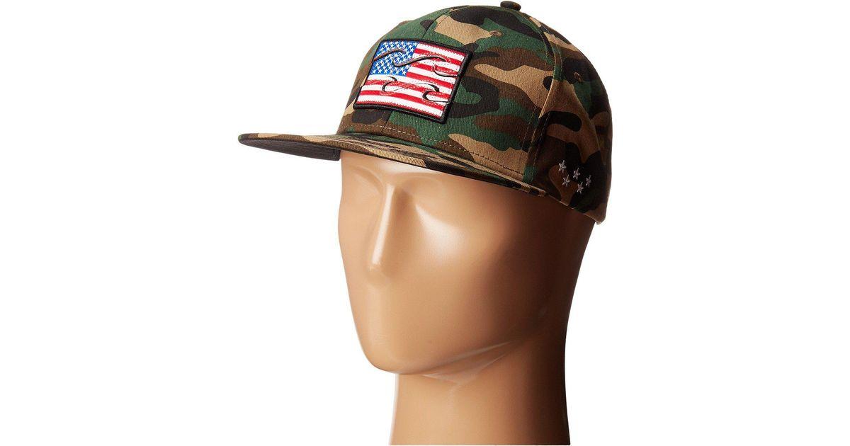 e011d933f476e ... sweden lyst billabong native camo hat in green for men 67626 313b2