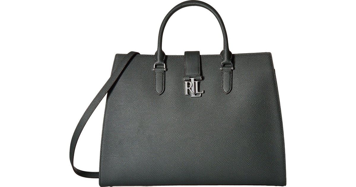 174c24eee353 Lyst - Lauren by Ralph Lauren Carrington Brigitte Tote in Black