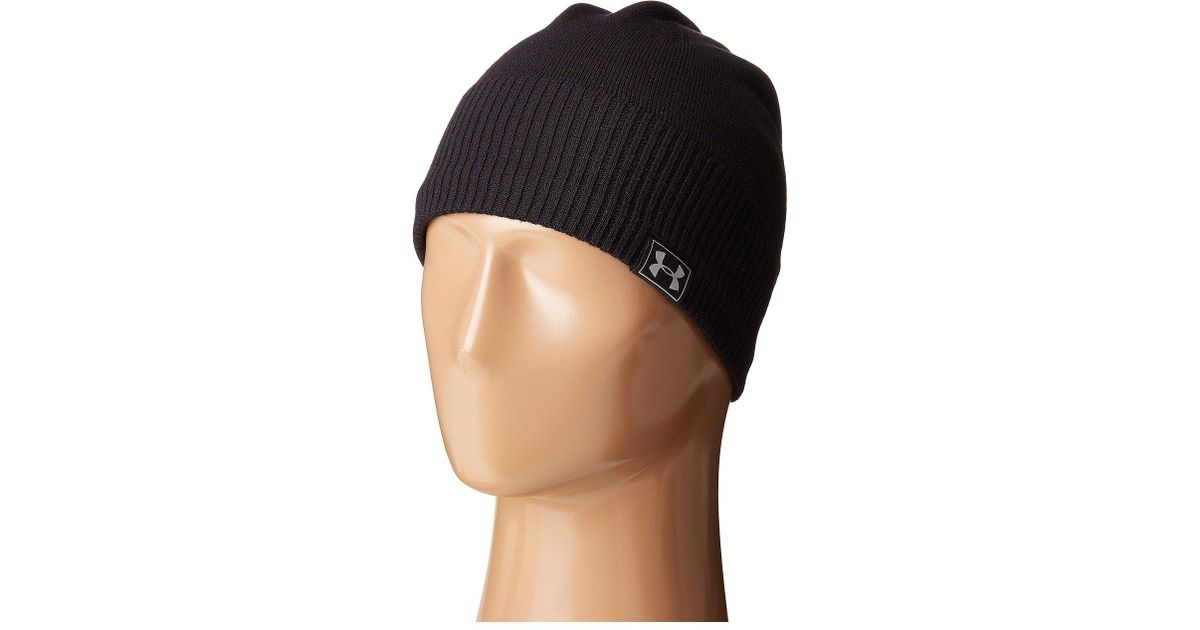6035f584639 Lyst - Under Armour Ua Reactor Knit Beanie in Black for Men