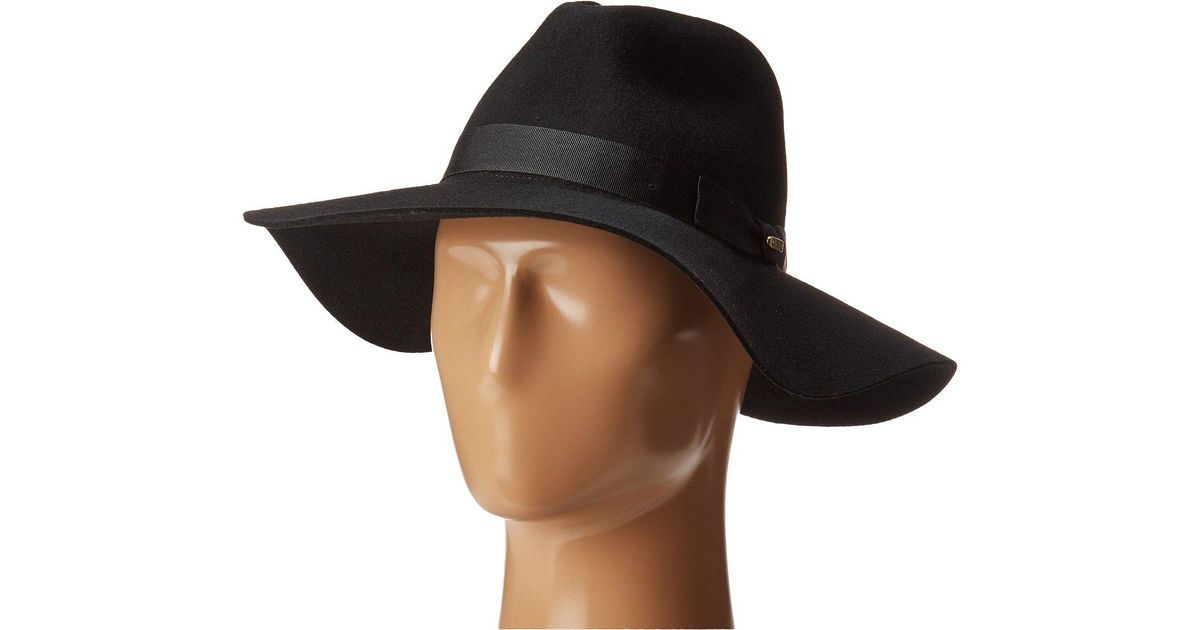 43d1af4567898 Lyst - San Diego Hat Company Wfh8049 Wide Flat Brim Fedora (blush) Fedora  Hats in Black