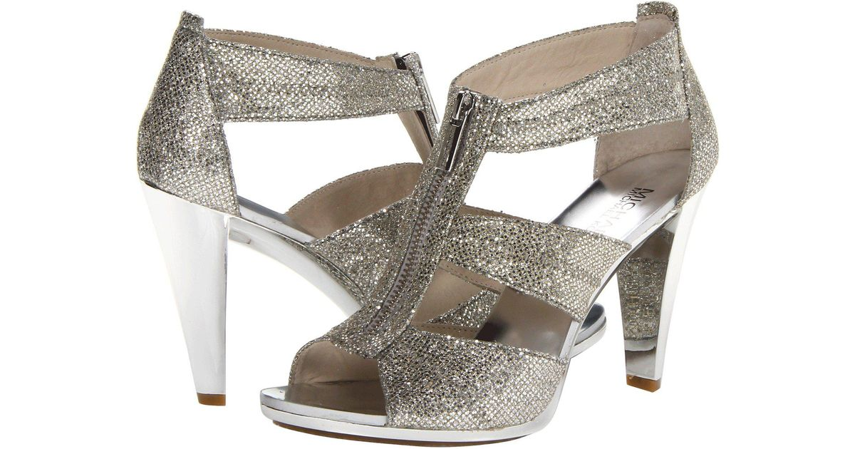 bb1e6a880c8 Lyst - MICHAEL Michael Kors Berkley T-strap (silver Glitter) High Heels in  Metallic - Save 55%