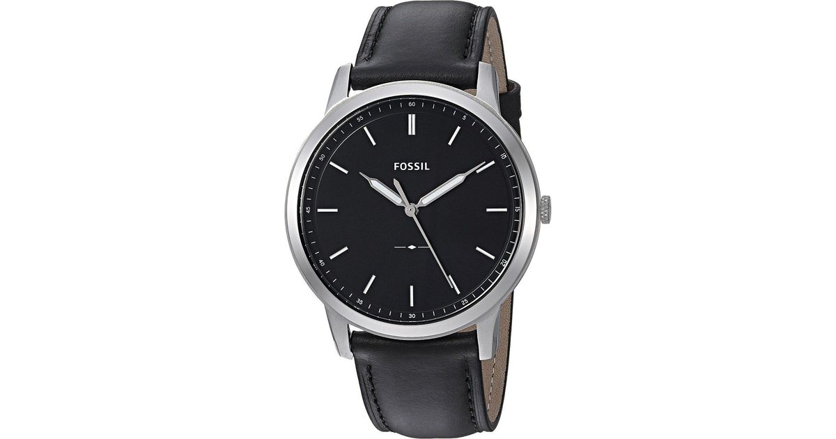 f0131dc88 Fossil The Minimalist 3h - Fs5398 in Black for Men - Lyst