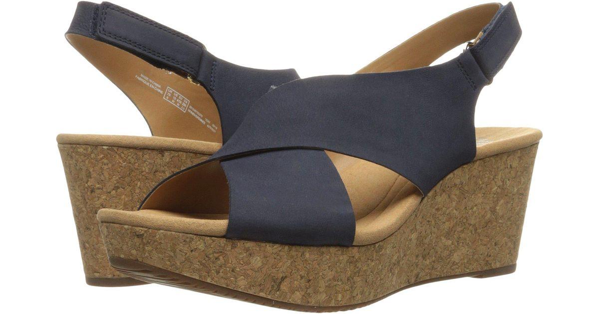 51914c4a5a2b Lyst - Clarks Annadel Eirwyn (black Nubuck) Women s Sandals in Blue - Save  3.225806451612897%
