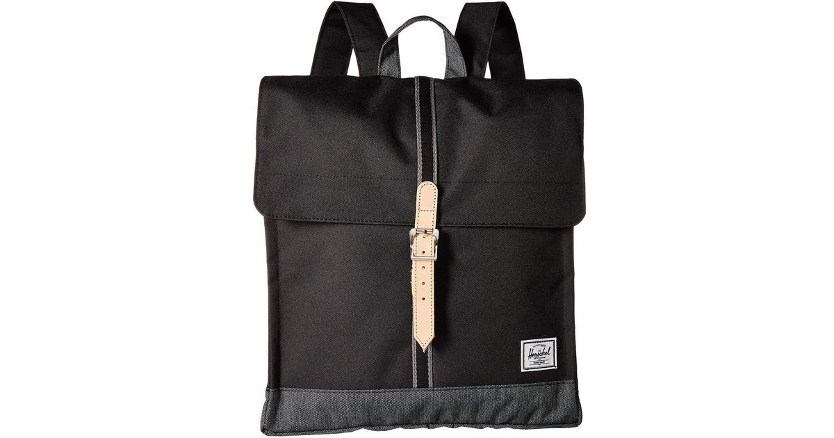 9ef9b5b0a2a ... backpack bop  lyst herschel supply co city mid volume black tan  synthetic ...