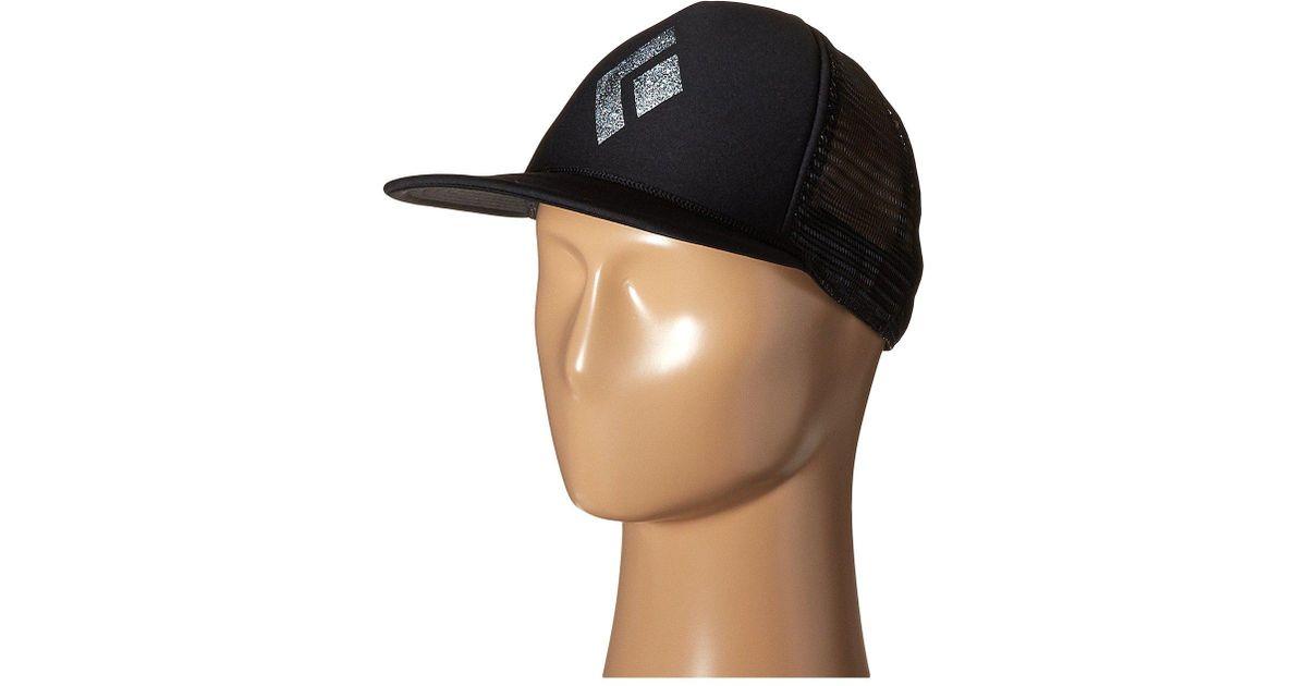 6959518bf02 Lyst Black Diamond Flat Bill Trucker Hat White Caps In