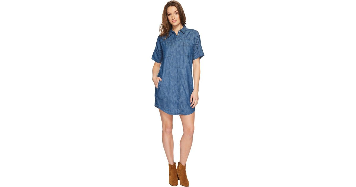 7e7c0b12f Blank NYC Short Sleeve Shirtdress In Fatal Attraction in Blue - Lyst