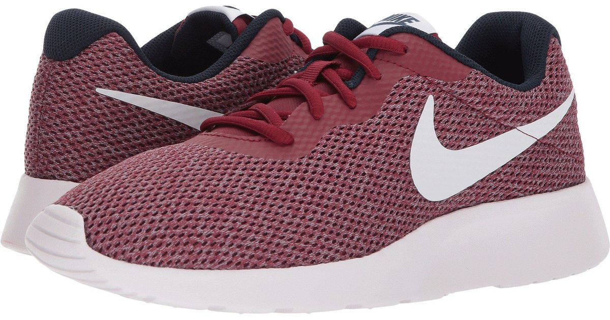check out 1bf50 e4383 ... switzerland lyst nike tanjun se team red vast grey obsidian navy mens running  shoes in red