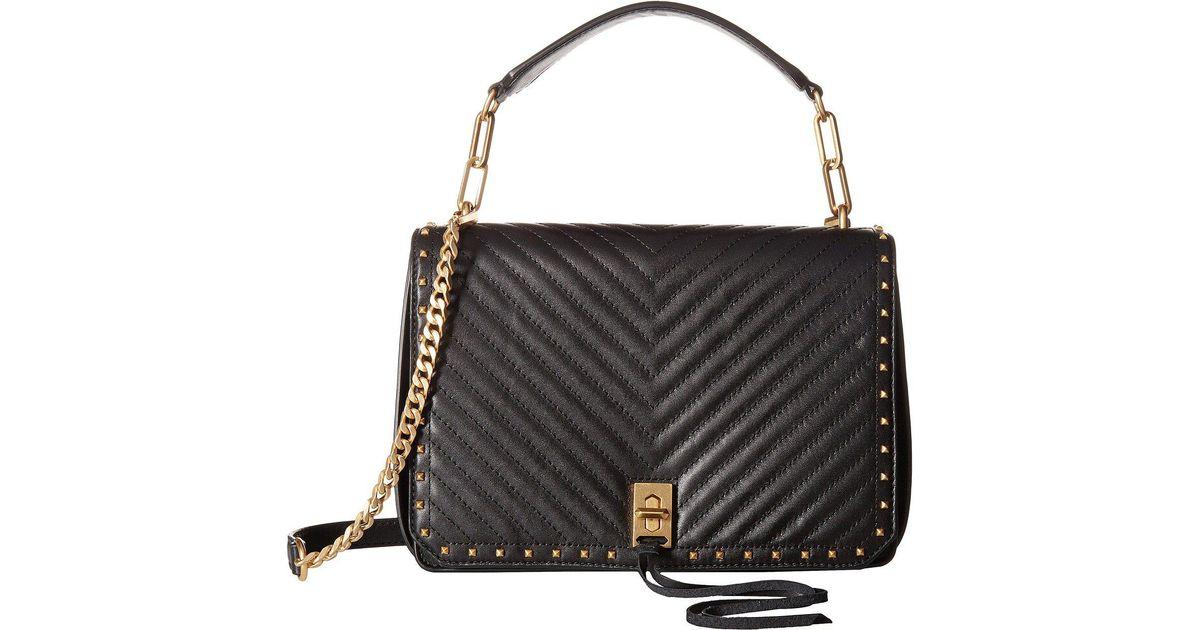 f0d79d5009 Lyst - Rebecca Minkoff Medium Becky Shoulder Bag in Black