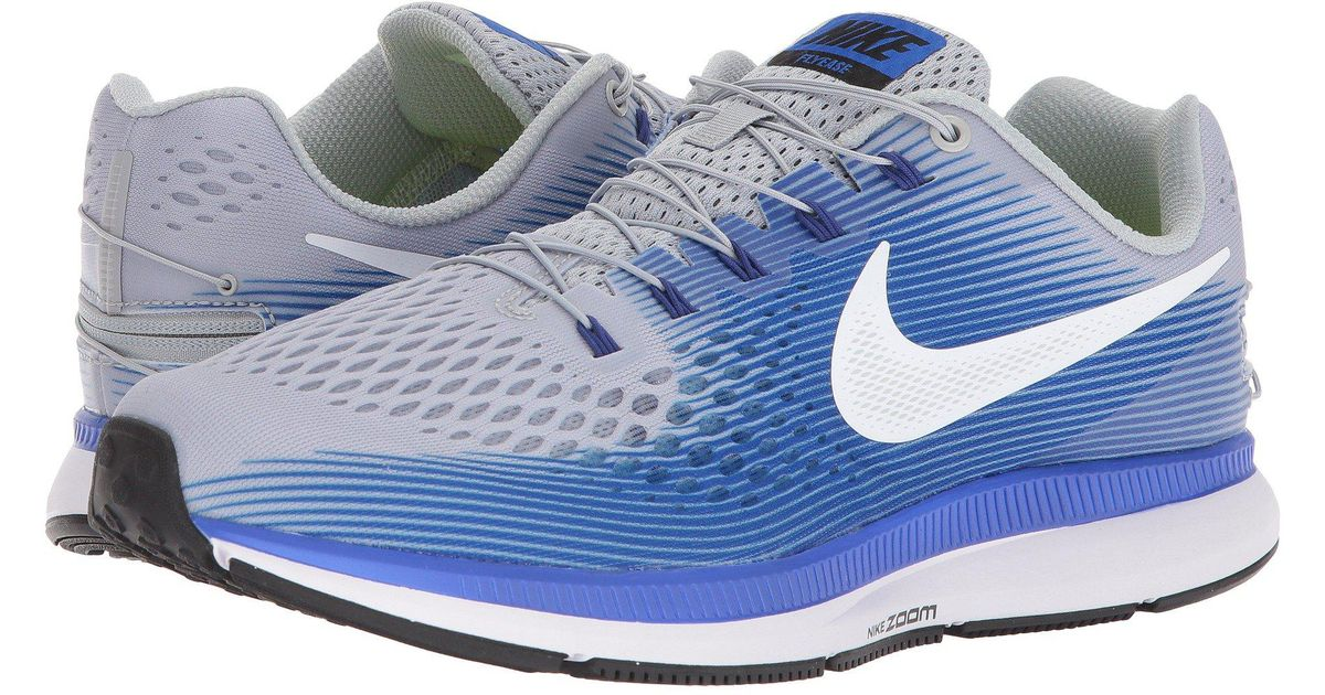 f1e063f427cc Lyst - Nike Air Zoom Pegasus 34 Flyease in Blue for Men - Save 36%