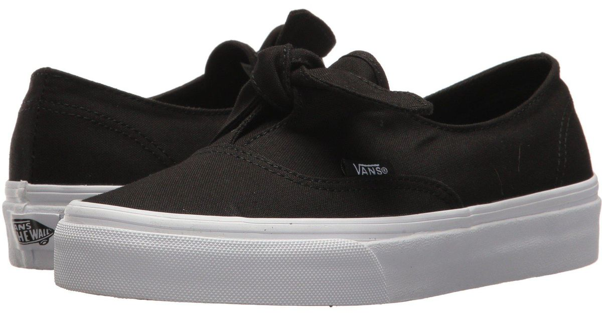 Vans Authentic Knotted Canvas Skate Slip Ons In Black Lyst