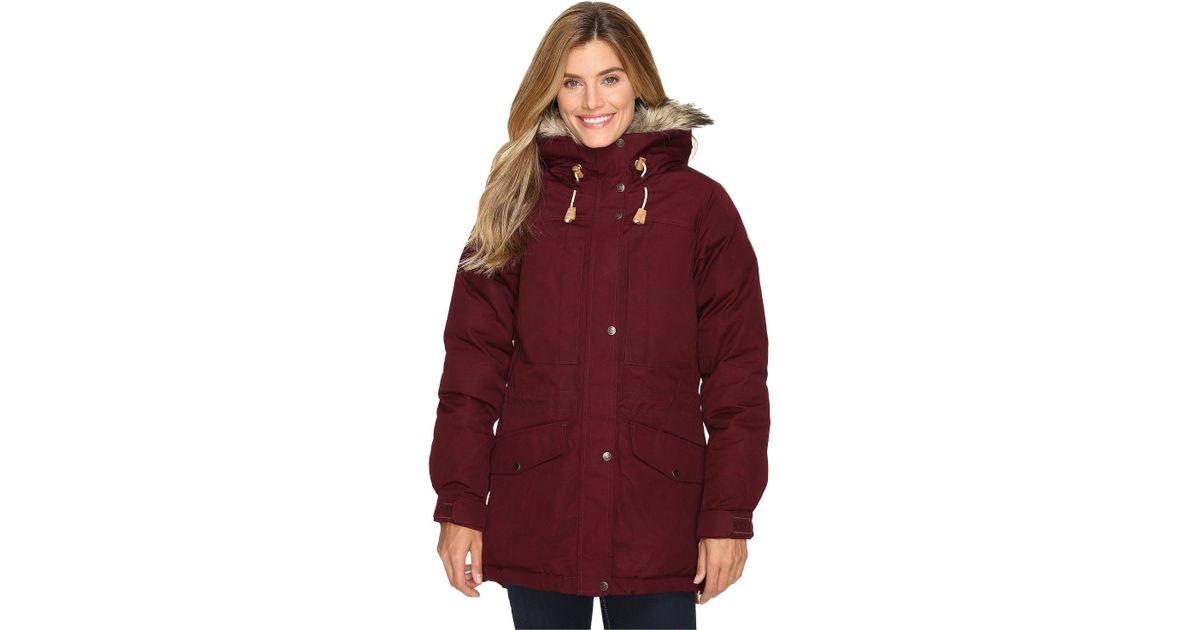 319d62931504d Lyst - Fjallraven Singi Down Jacket (dark Garnet) Women s Coat