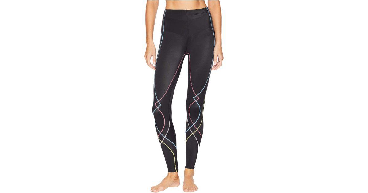 5715b2a775 Lyst - CW-X Stabilyxtm Tight (black rustic Rainbow Stitch) Women s Workout  in Black