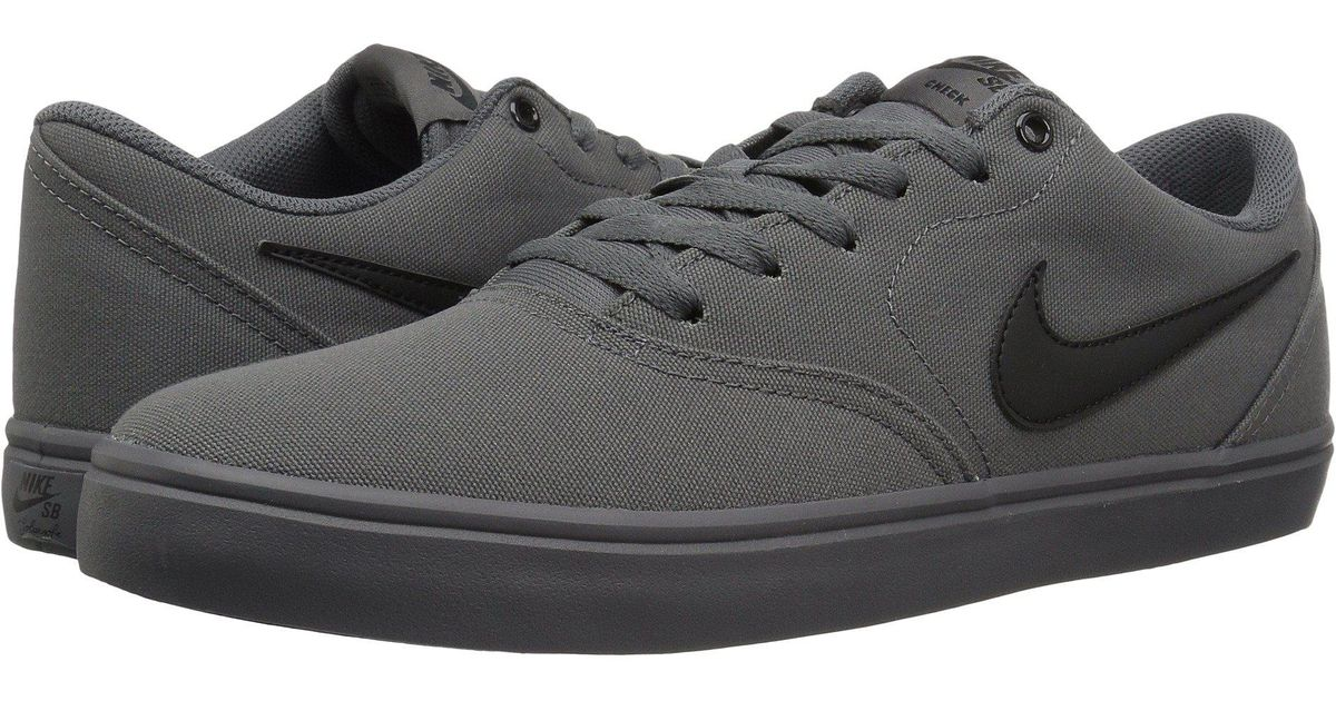 a23ecdcaca377 Lyst - Nike Check Solar Canvas (black black team Red) Men s Skate Shoes in  Gray for Men
