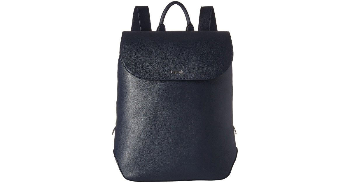 a891d9f6c030 Lyst - Lipault Plume Elegance Leather Laptop Medium Backpack in Blue