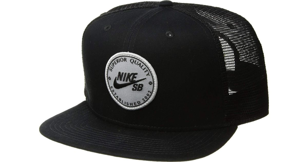 bcd2627c9771 ... amazon lyst nike pro cap patch trucker black black pine green black  baseball caps in black