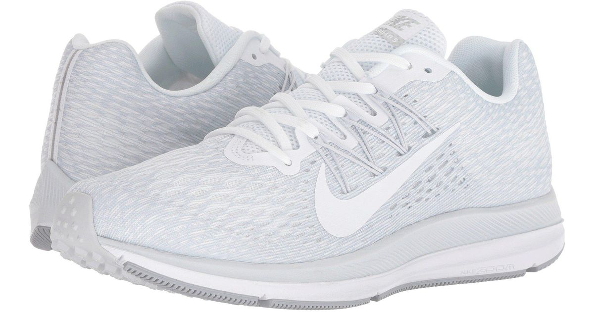 9f8d813b1aa9 Lyst - Nike Air Zoom Winflo 5 (black bright Crimson volt anthracite) Men s  Running Shoes in White for Men