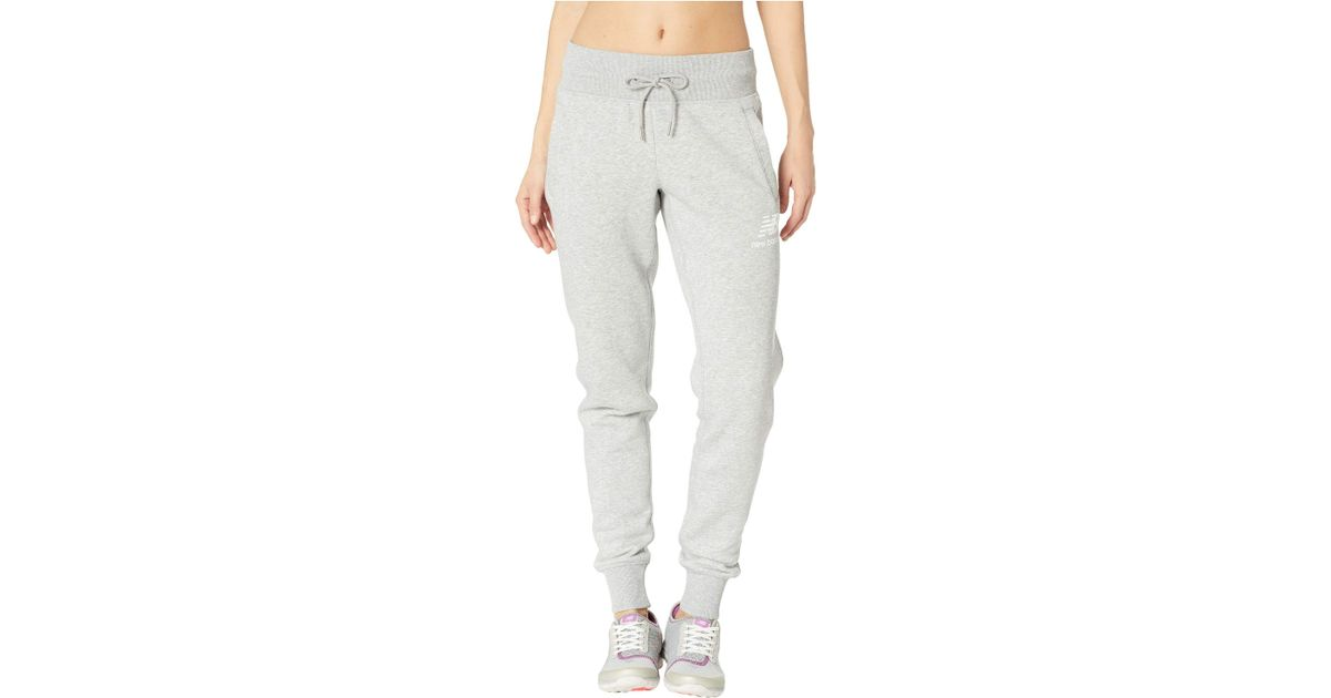 e0553f73df2c6 New Balance Essentials Brushed Sweatpants (athletic Grey) Workout in Gray -  Save 19% - Lyst